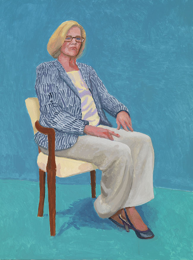 """DAGNY CORCORAN, 15-17 JANUARY"" 2014 ACRYLIC ON CANVAS 48 X 36"" © DAVID HOCKNEY PHOTO CREDIT: RICHARD SCHMIDT"