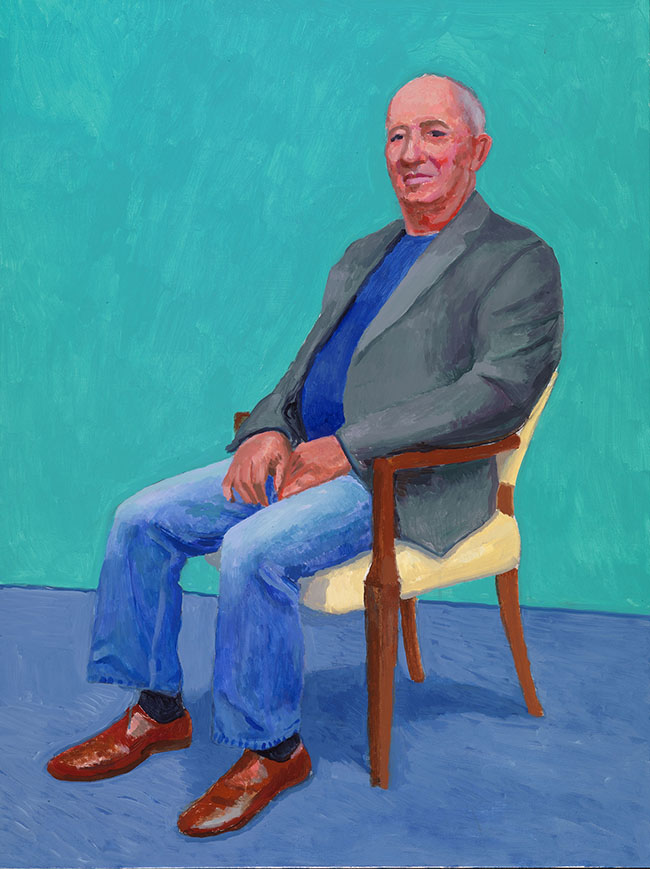 "David Hockney ""David Juda, 22-25 March"" 2015 Acrylic on canvas 48 x 36"" © David Hockney Photo Credit: Richard Schmidt"