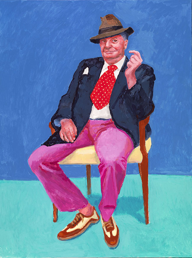 "David Hockney ""Barry Humphries, 26-28 March"" 2015 Acrylic on canvas 48 x 36"" © David Hockney Photo Credit: Richard Schmidt"